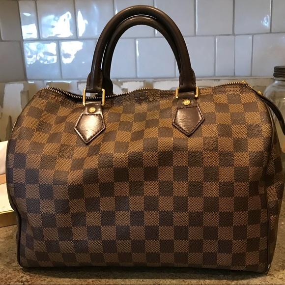 Louis Vuitton Handbags - LOUIS VUITTON Damier Ebene Speedy 30 7bcbf2ea30b3f